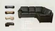 £399 - BRAND NEW AMY CORNER SOFA IN LEATHER.