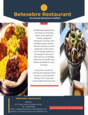 Beteseb Ethiopian Restaurant Sheffield