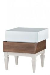 Whitney High Gloss Aqua Bedside Table Nightstand