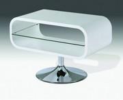 Mork White High Gloss TV Stand 80cm