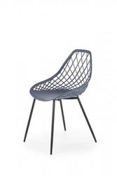 Scholey Dark Grey Plastic Dining Chair